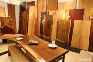 和室用一枚板のローテーブル