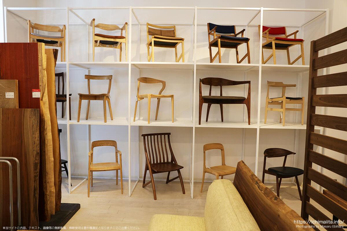 一枚板の椅子