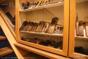 創業時に使われていた家具製造の道具