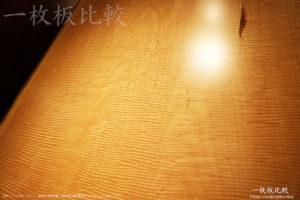 波杢があるトチの一枚板テーブル