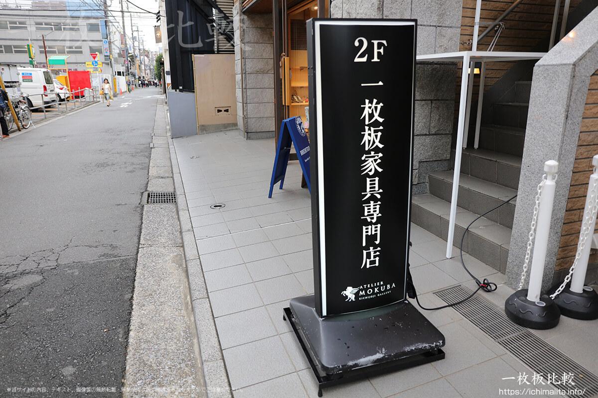 アトリエ木馬吉祥寺ギャラリーの入口看板