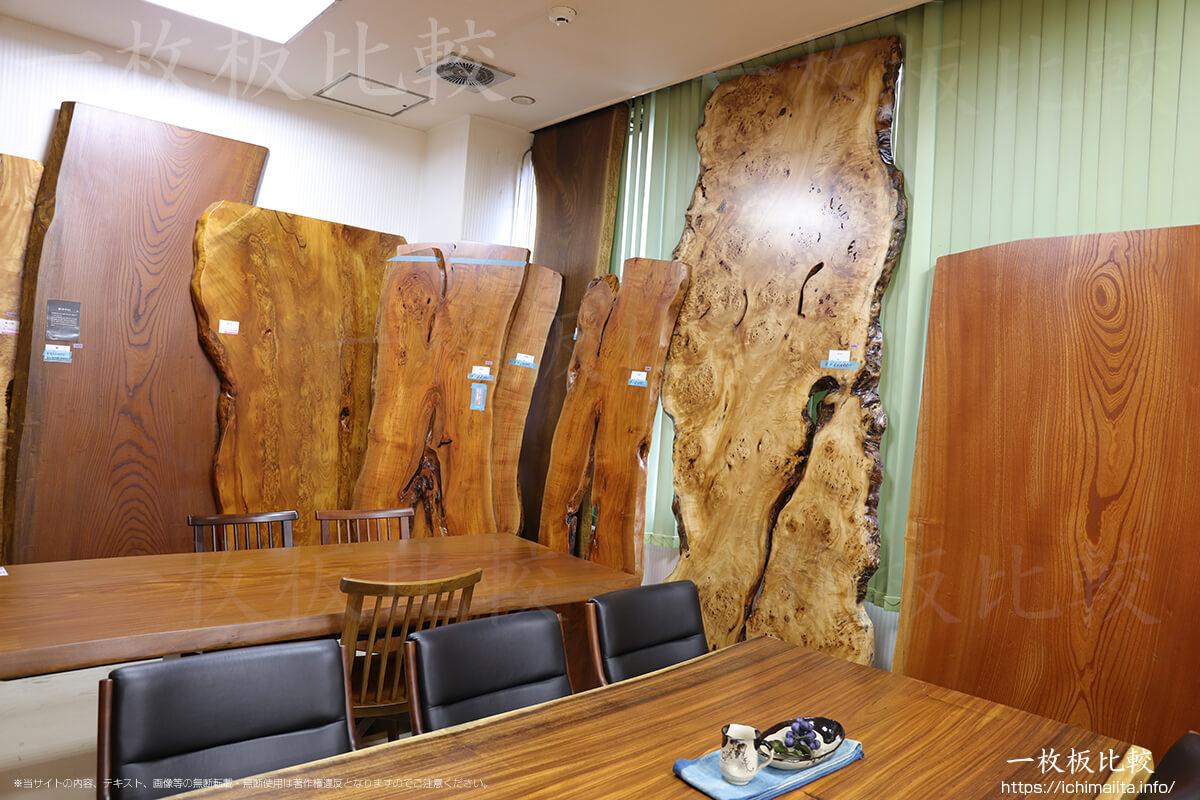 ケヤキ、屋久杉、朱里桜、ポプラの一枚板