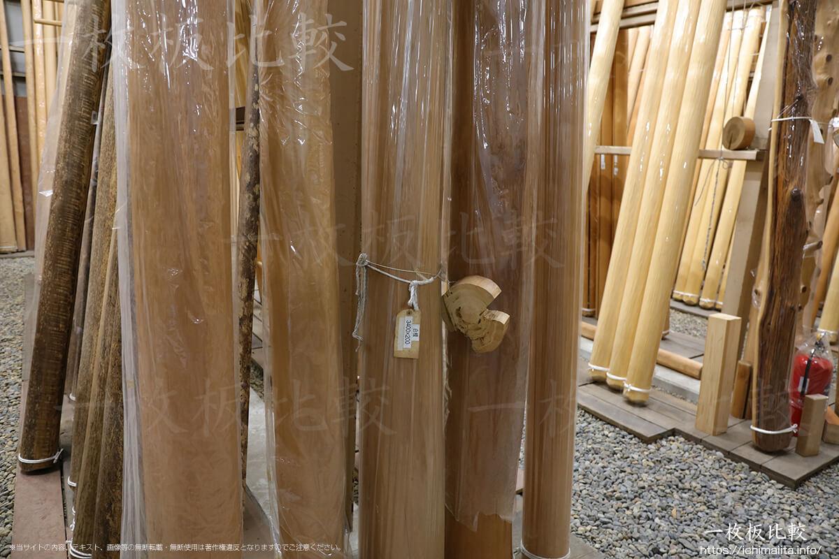 白檀でできた柱