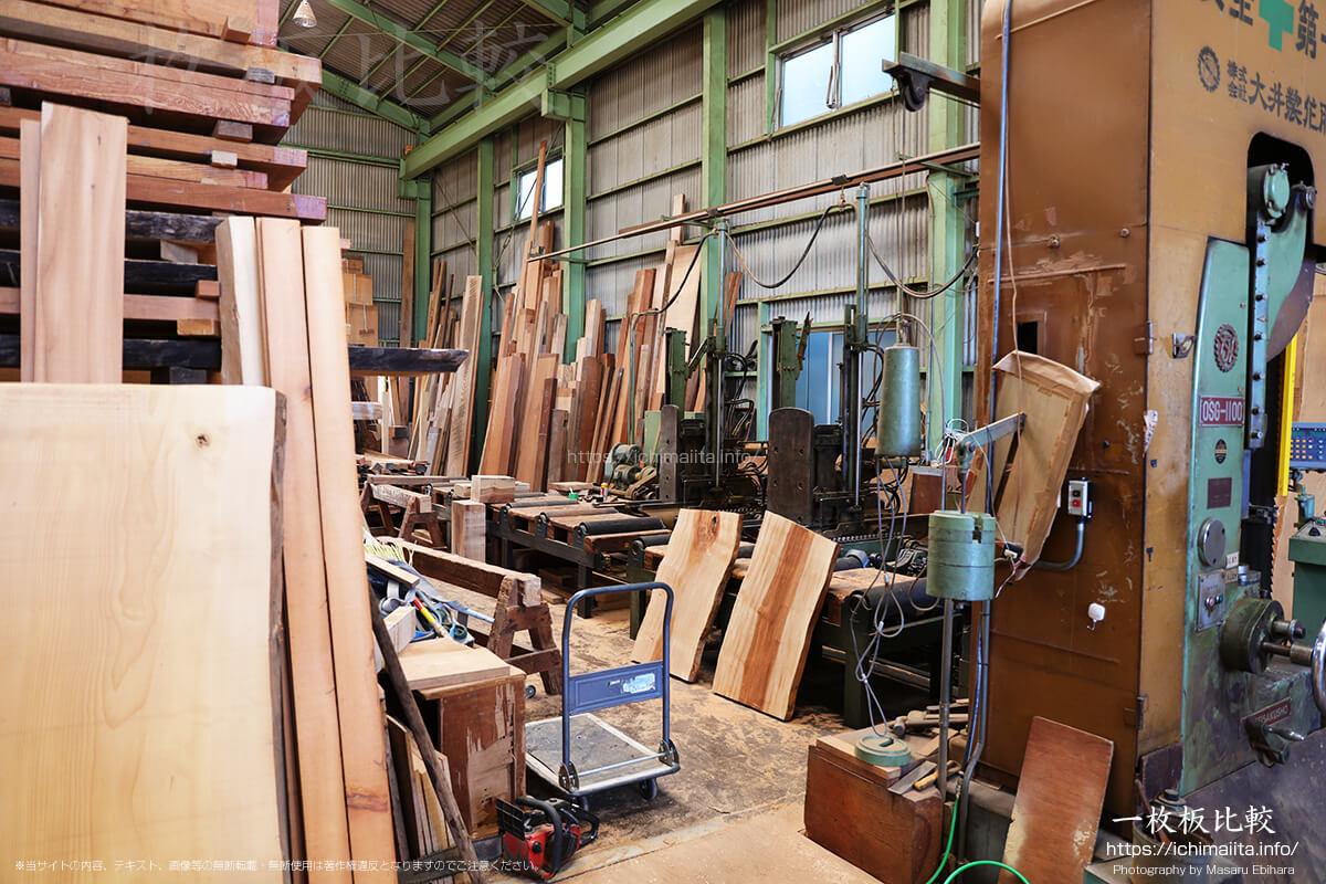 瀬尾木材有限会社1階の工房