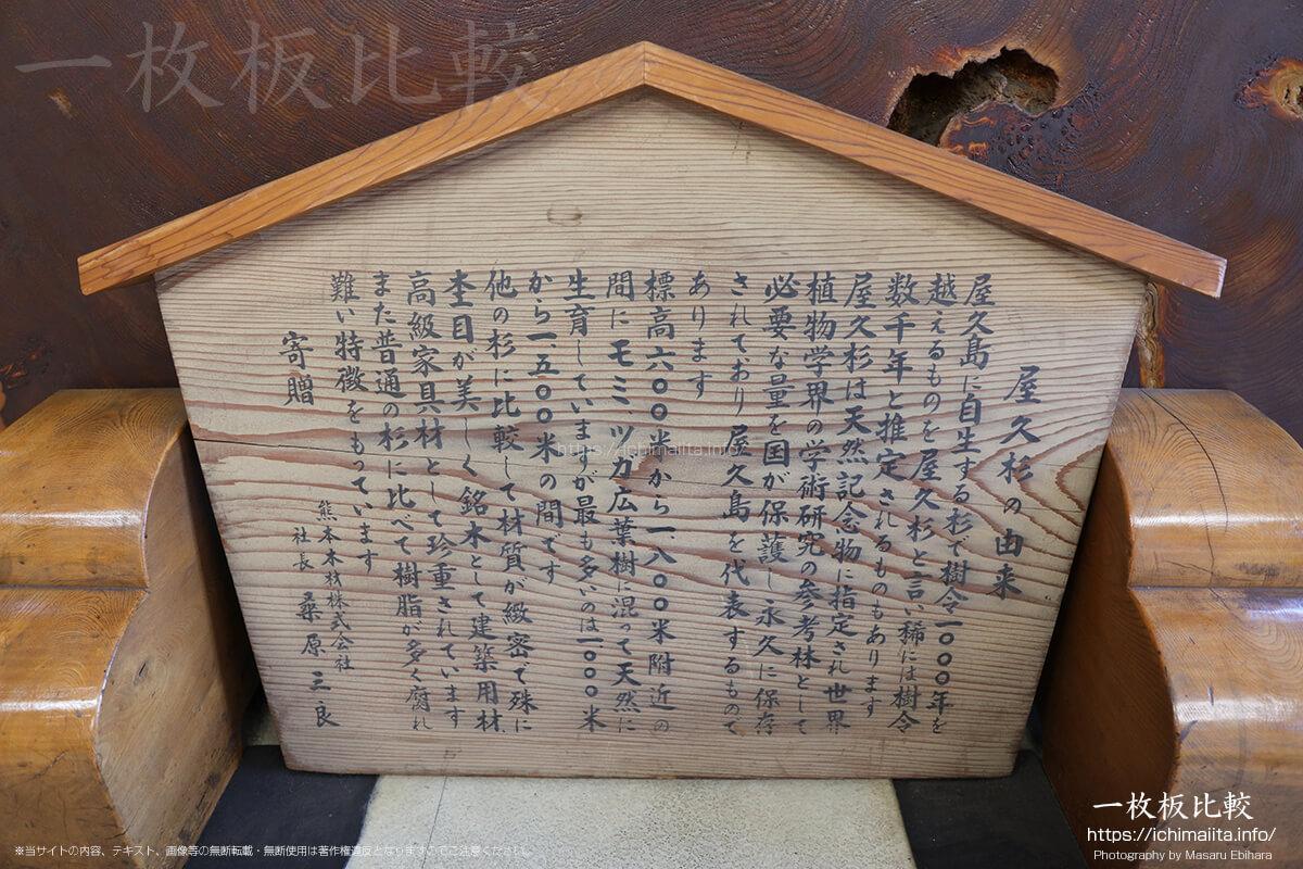 東京銘木協同組合事務所内の巨大な屋久杉