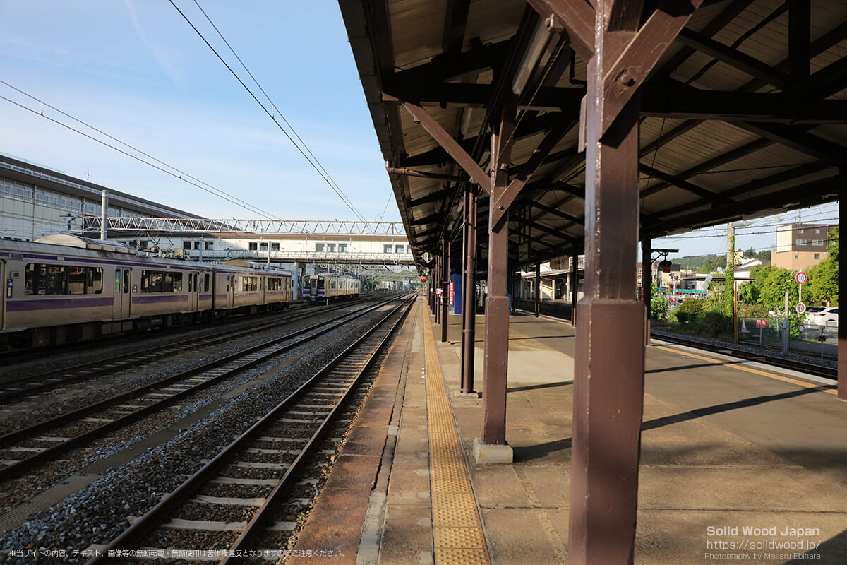 始発前の一ノ関駅