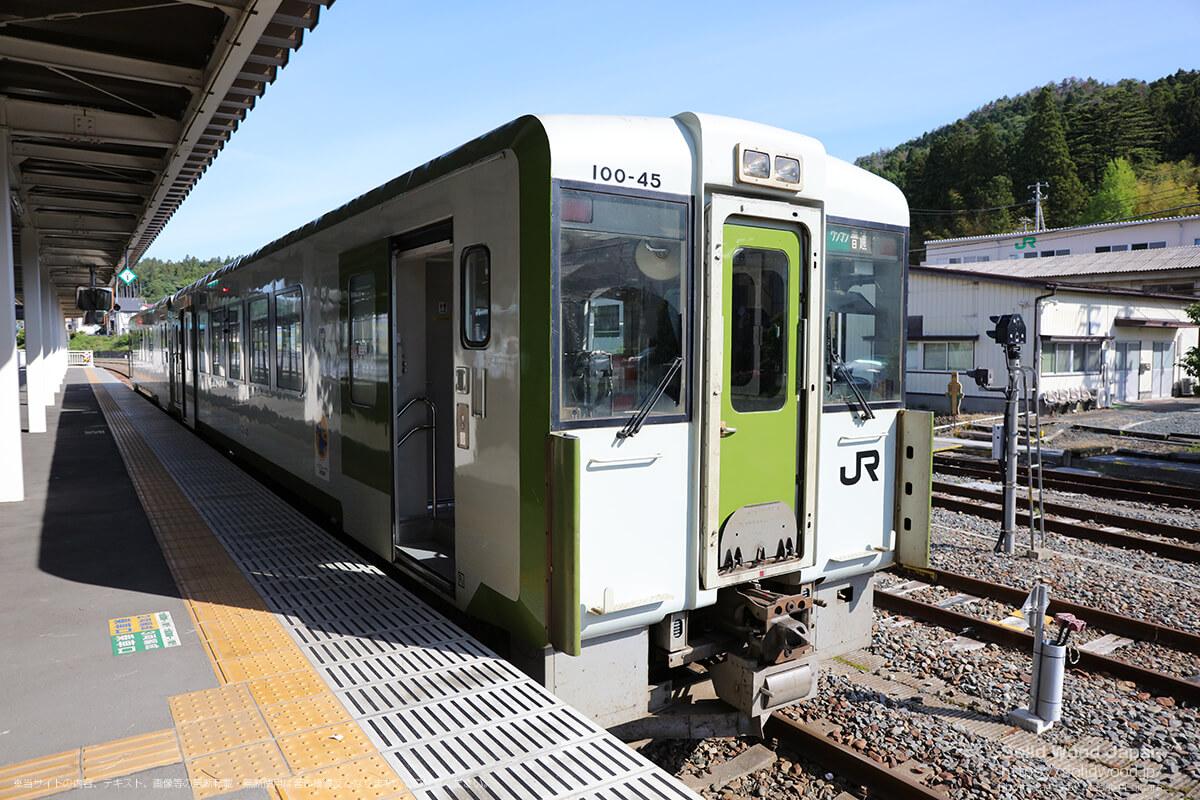 気仙沼駅に到着して大船渡線