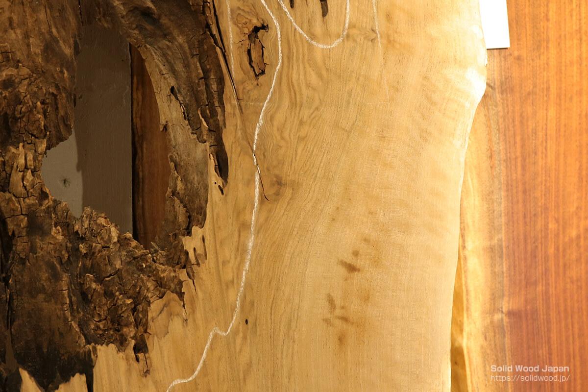 濡らす前のバストゥーンウォールナット(無塗装状態)