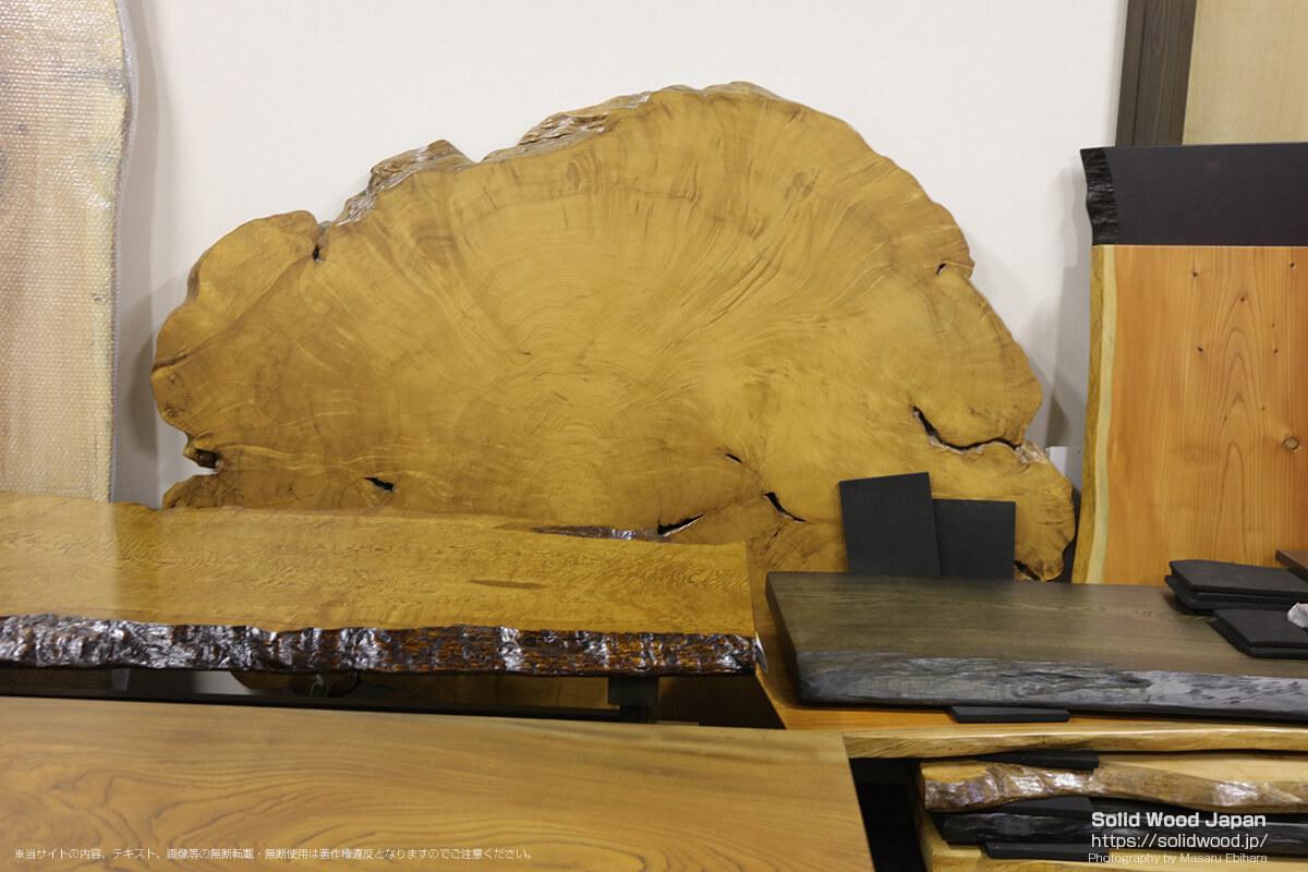 台湾檜の一枚板