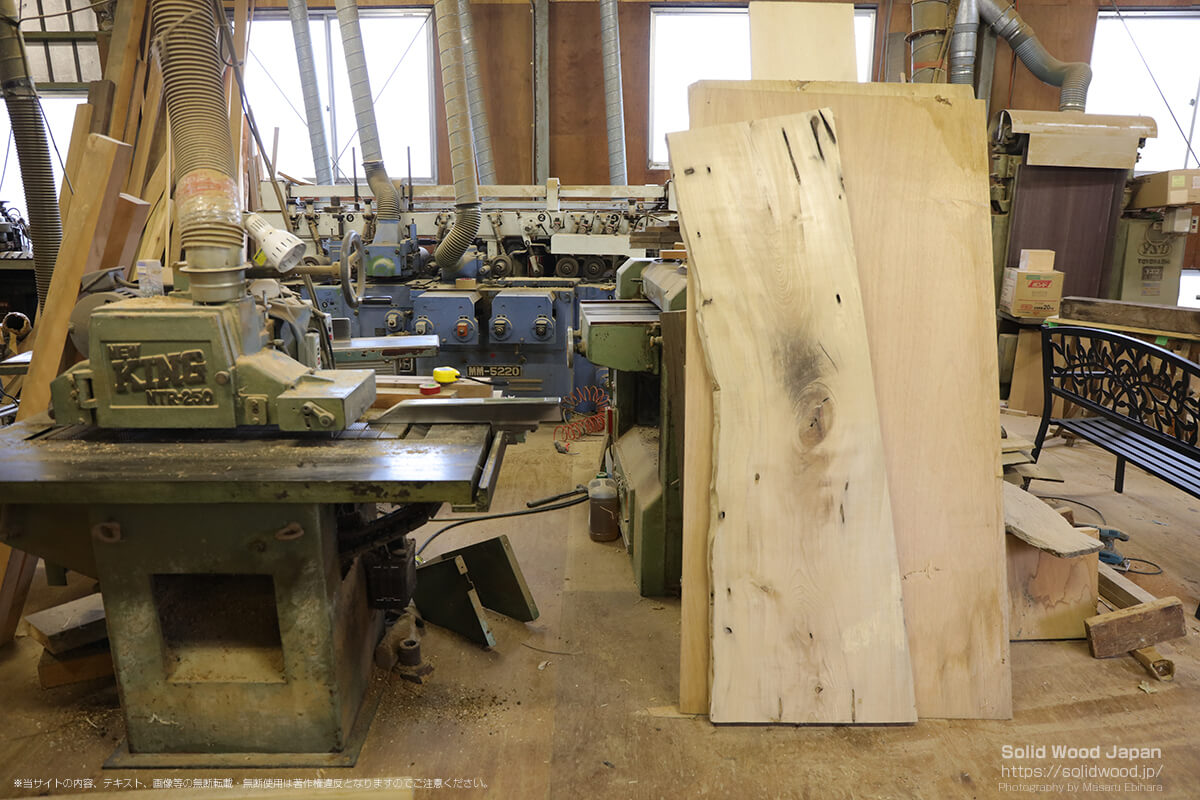 天然木工房アールウッドの工房
