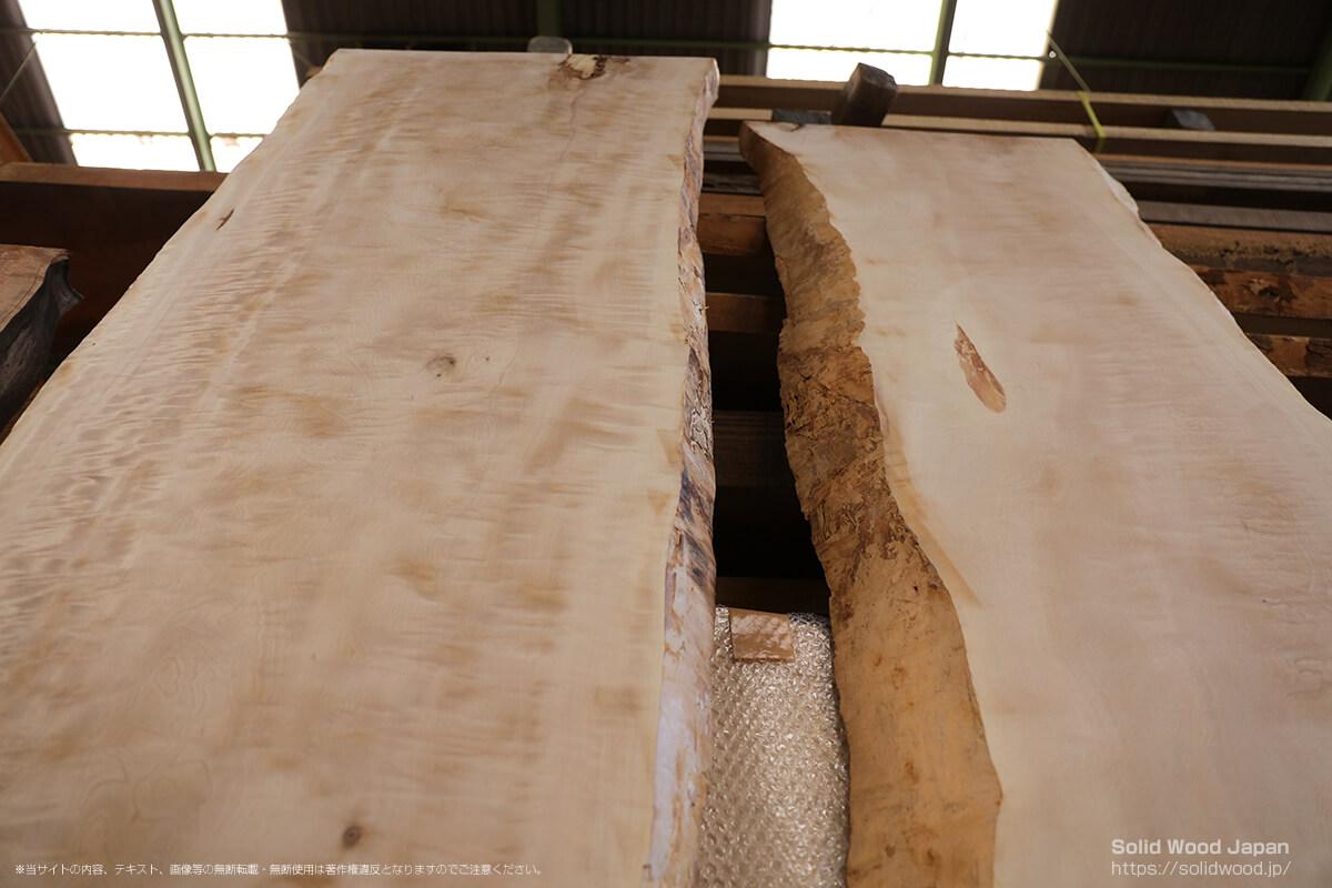 トチチヂミ(栃縮杢)の一枚板