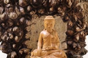降魔印(触地印)の印相をした釈迦如来(しゃかにょらい)の仏像