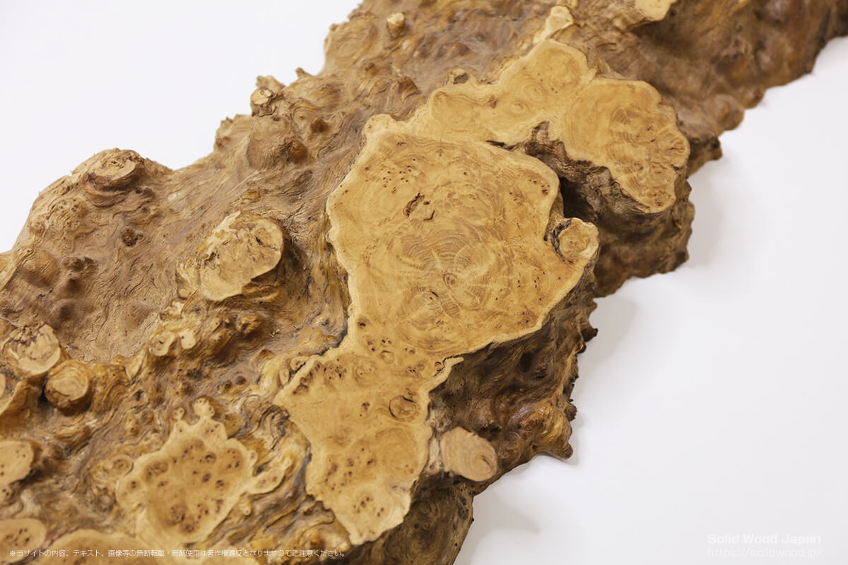 クリコブモク(栗瘤杢)の一枚板
