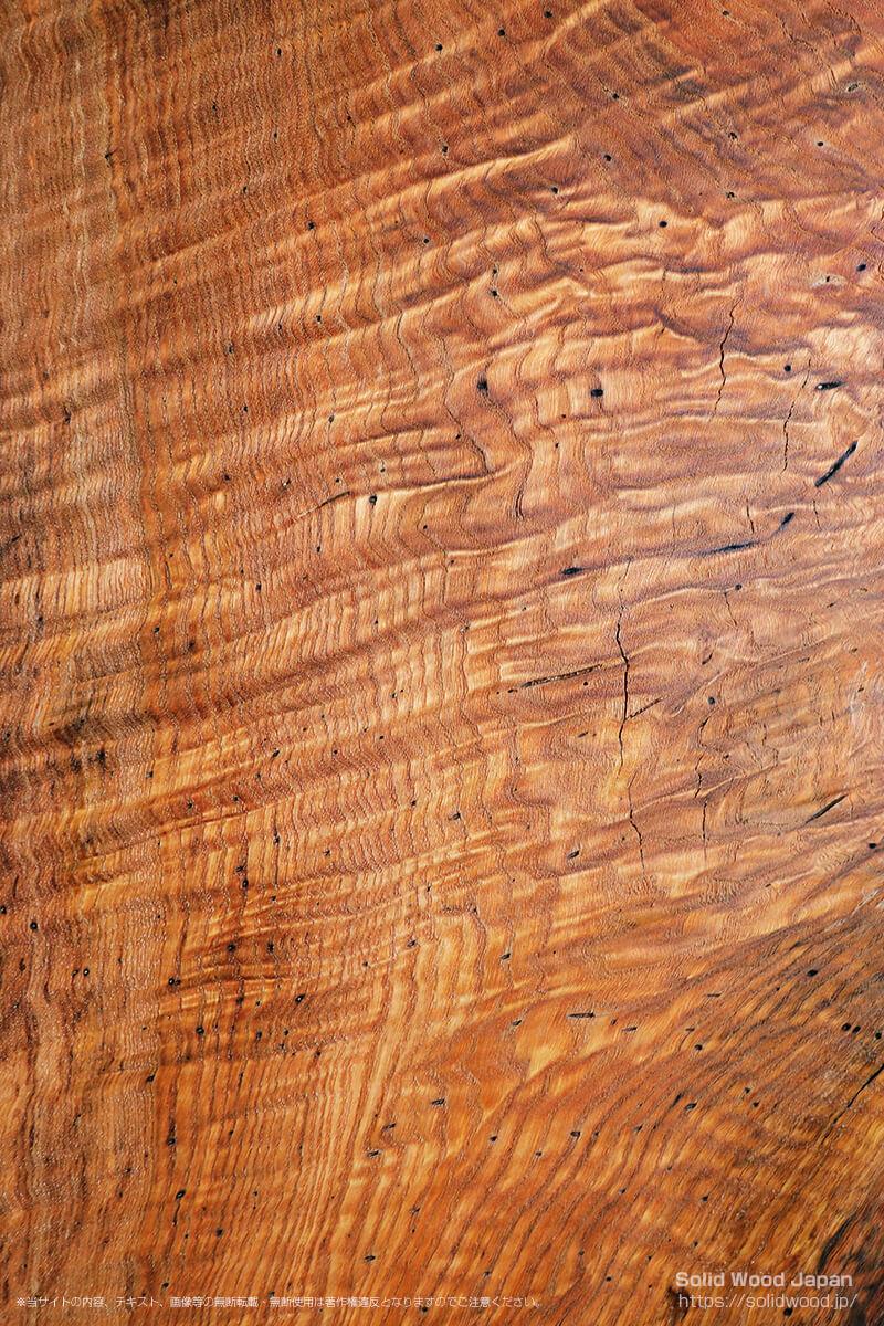 クリタクリモク(栗たくり杢)の一枚板