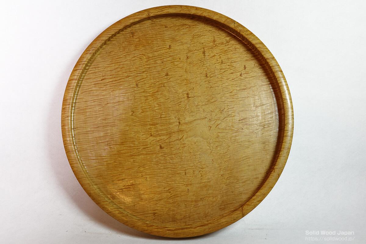 直径2尺(60センチメートル)栃材の刳り盆大作品