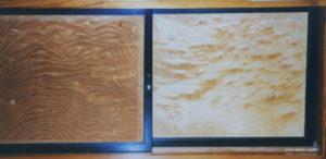 地袋の戸板に桐玉杢を使った例