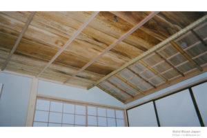 茶室客座平天井(屋久杉鶉杢使用例)