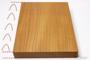 欅(ケヤキ)の柾目
