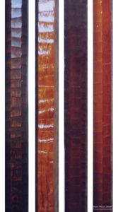 材種が違う各名栗床柱