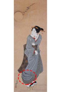 江戸時代に描かれた美人画の浮世絵